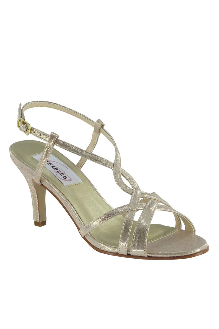 Benjamin Walk Shoes Elvira Silver Shimmer Image
