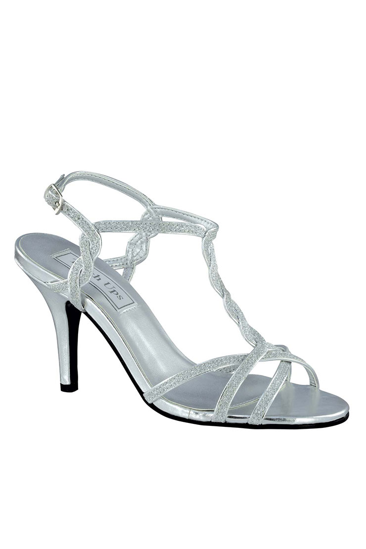 Benjamin Walk Shoes Silver Glitter FRAN Touch Ups Prom Shoe  Image