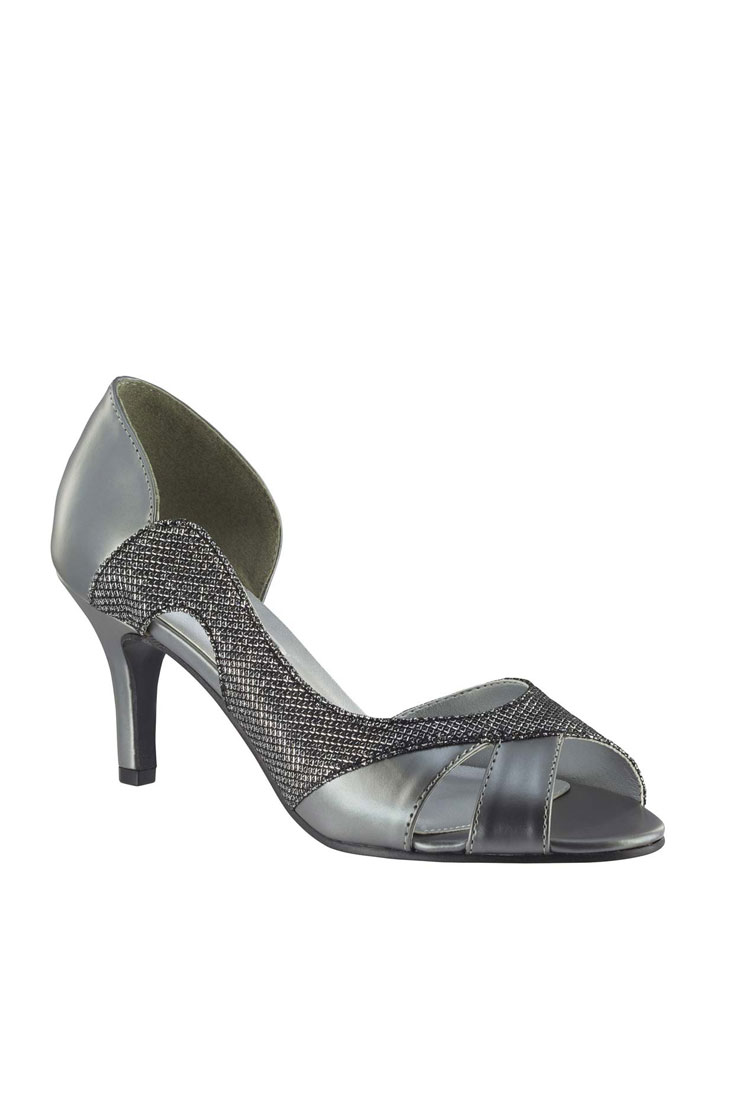 Benjamin Walk Shoes Charlie Pewter Shimmer Image