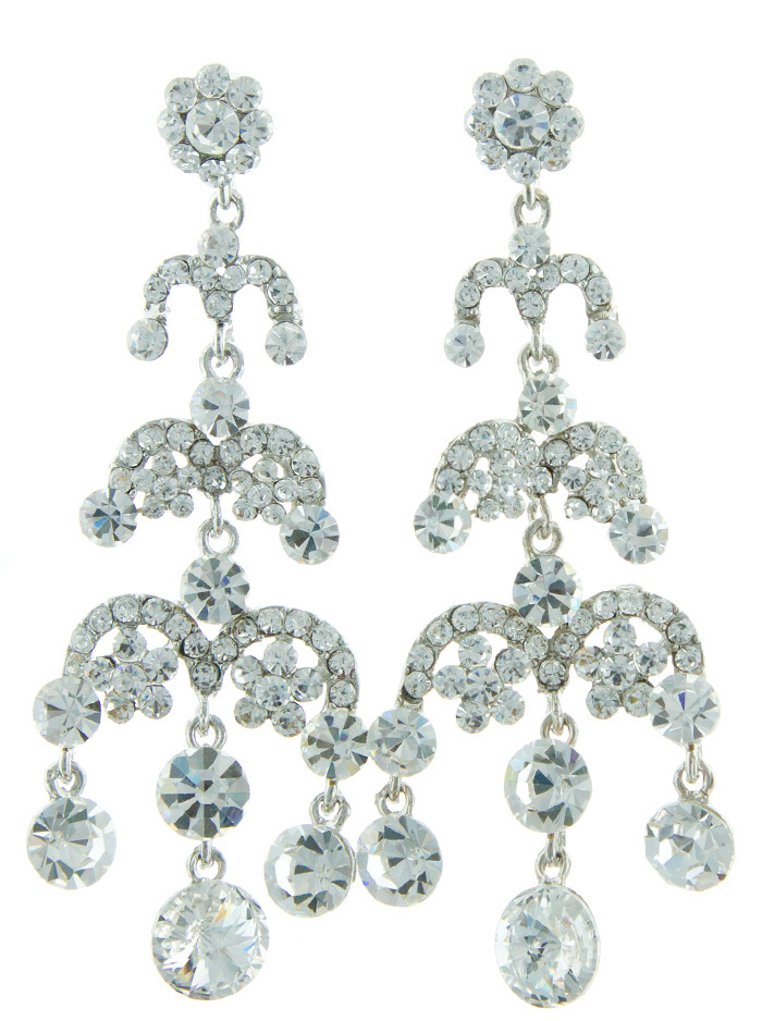 Jim Ball Jewelry Jim Ball CE755 Swarovski Crystal Earrings Image