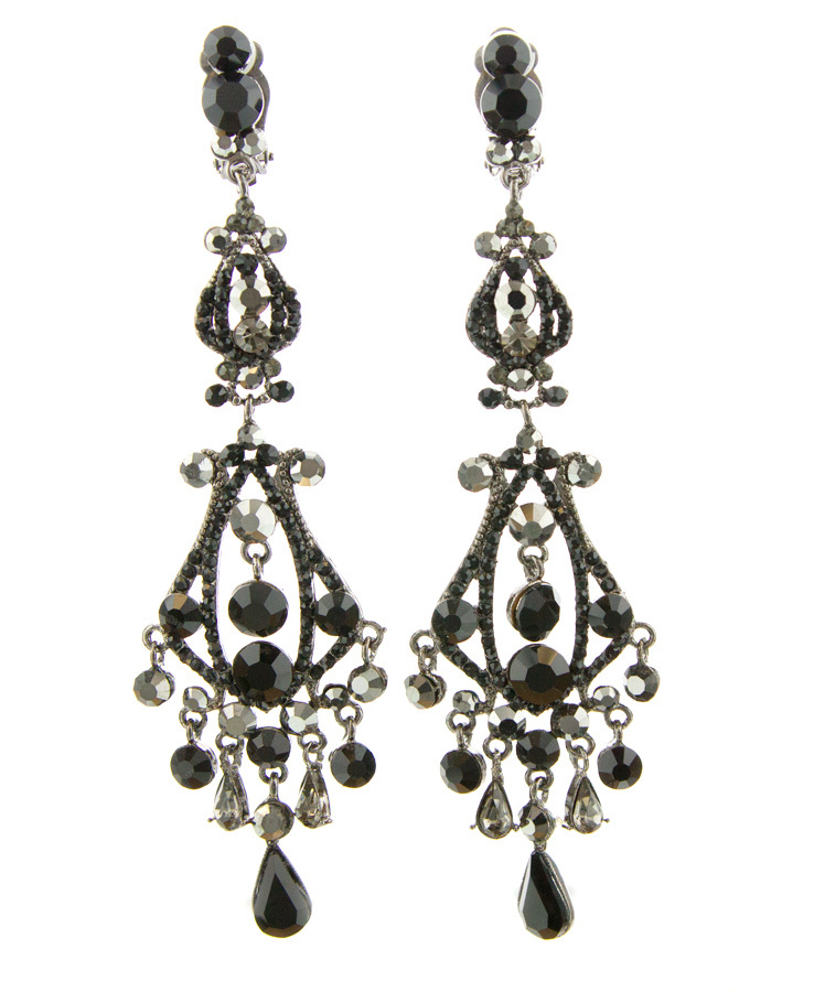 Jim Ball Jewelry Jim Ball CE861 Swarovski Crystal Earrings Image