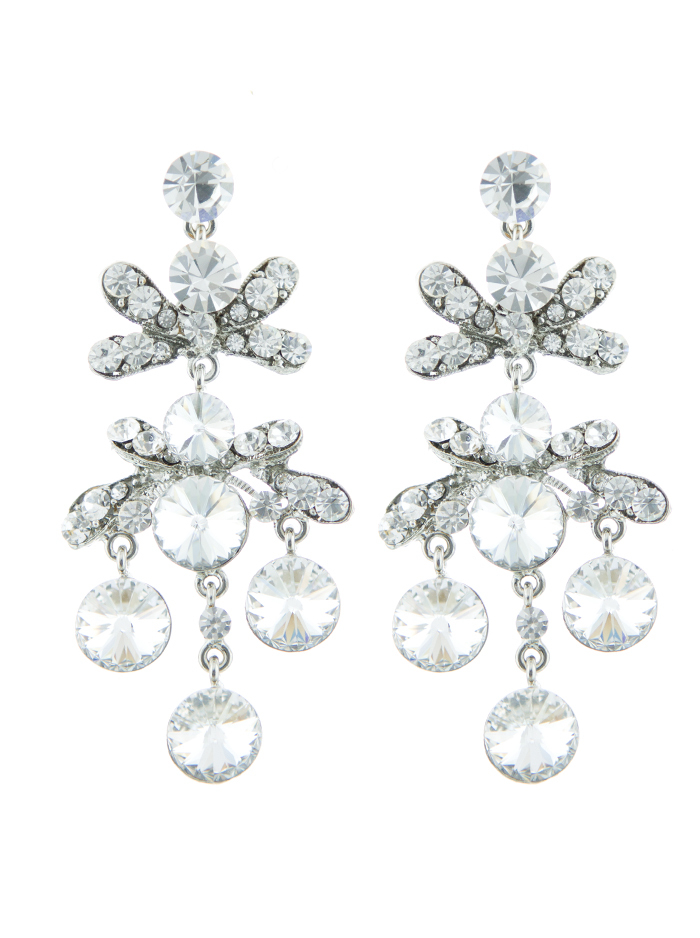 Jim Ball Jewelry Jim Ball CE879 Swarovski Crystal Earrings Image
