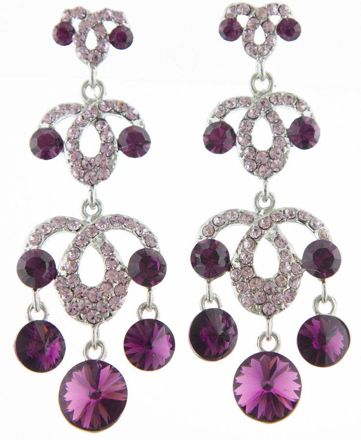 Jim Ball Jewelry Jim Ball CE829 Swarovski Crystal Earrings Image