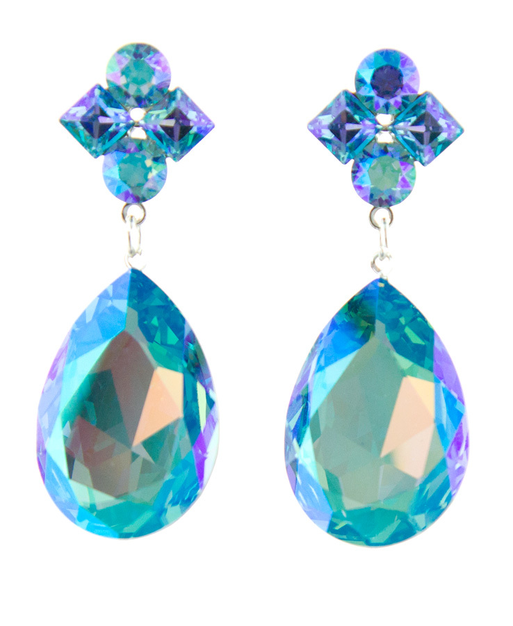 Jim Ball Jewelry Jim Ball CE951 Swarovski Crystal Earrings Image