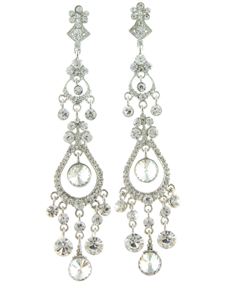 Jim Ball Jewelry Jim Ball CE974 Swarovski Crystal Earrings Image