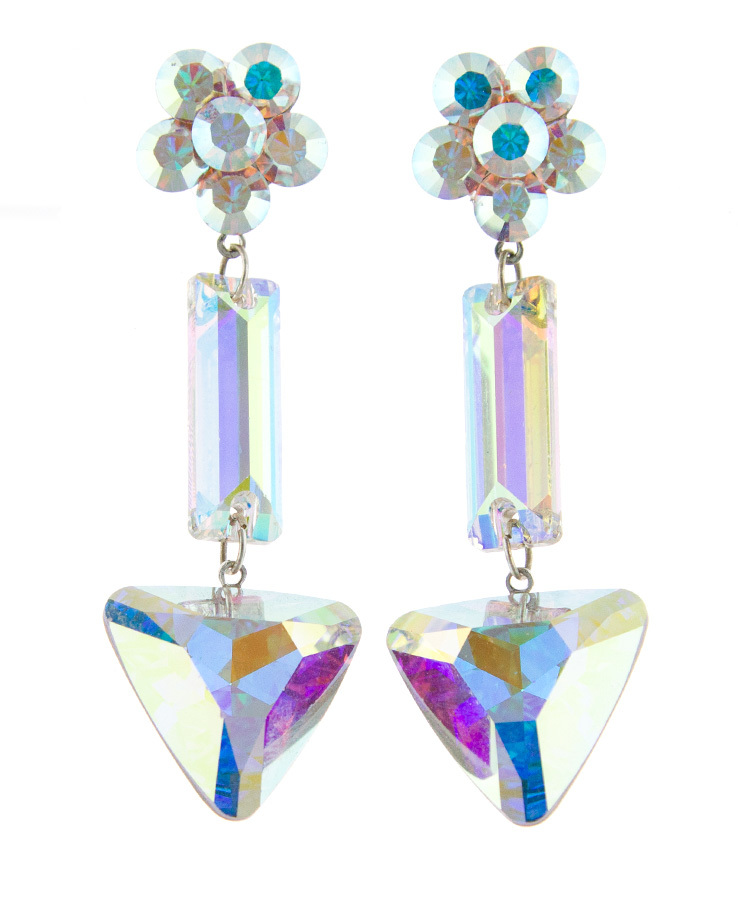 Jim Ball Jewelry Jim Ball CE1002 Swarovski Crystal Earrings Image