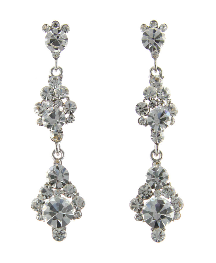 Jim Ball Jewelry Jim Ball CE956 Swarovski Crystal Earrings Image