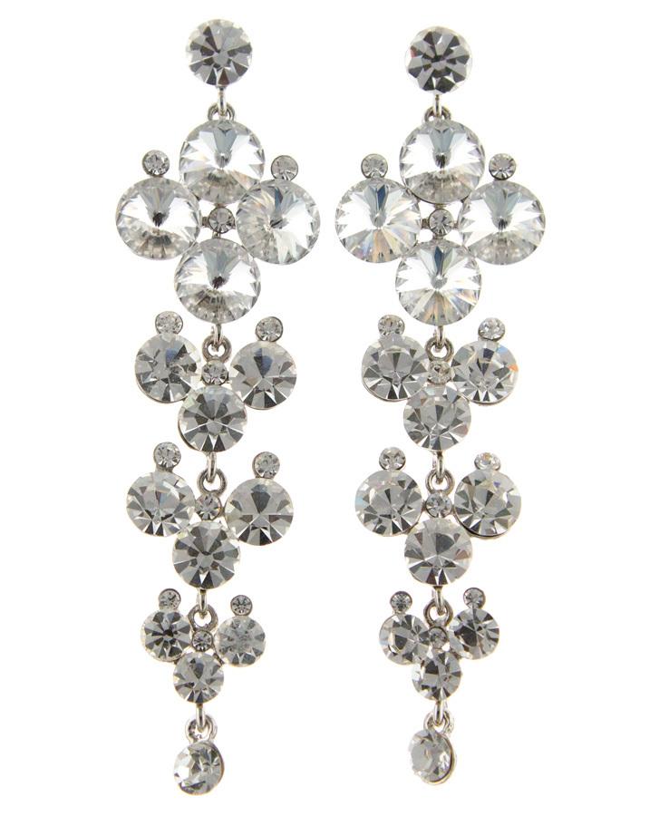Jim Ball Jewelry Pv269 Swarovski Crystal Earrings