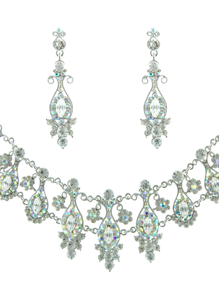 Helens Heart NS-H001854 Swarovski Crystal Necklace and Earrings