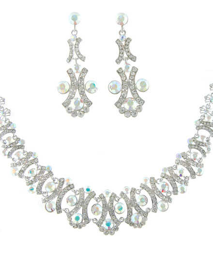 Helens Heart NS-H009555 Swarovski Crystal Necklace and Earrings